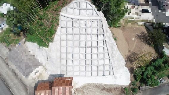 諏訪3B地区 急傾斜地崩壊対策工事写真